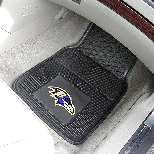 Fanmats Baltimore Ravens Two-Piece Heavy Duty Vinyl Car Mats