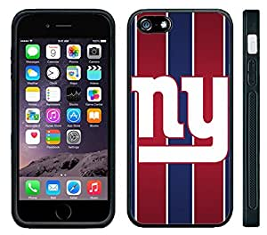 Apple iPhone 6 Black Rubber Silicone Case - NY Giants Football