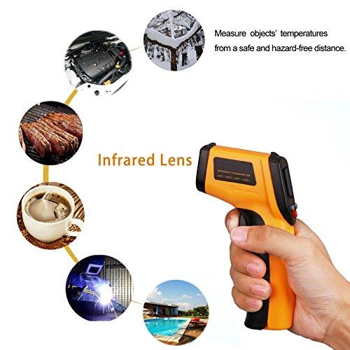 Laser medidor Alemania - Infrarrojos Termómetro/pirómetro Pistola/Digital con puntero láser para kontaktfreies Medir la temperatura: Amazon.es: Bricolaje y ...