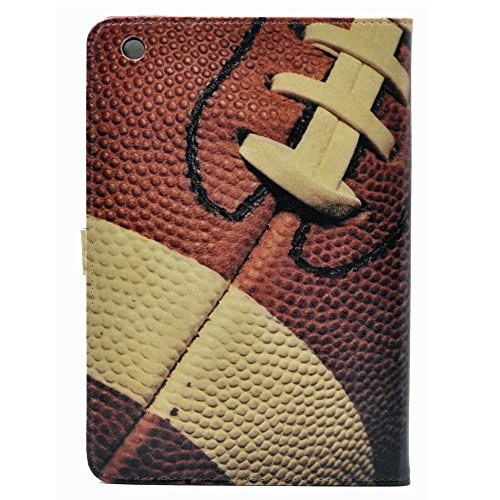 Button Football Mini - Rugby Football Sports American Leather Flip Stand Case Cover For ipad mini 1 2 Retina ,mini 3