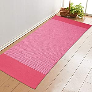 Saral Home Cotton Handloom Made Yoga/Exercise Rugs -70×170 cm