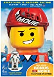 Lego Movie The (3D Blu-ray + Blu-ray + DVD +UltraViolet Combo Pack)