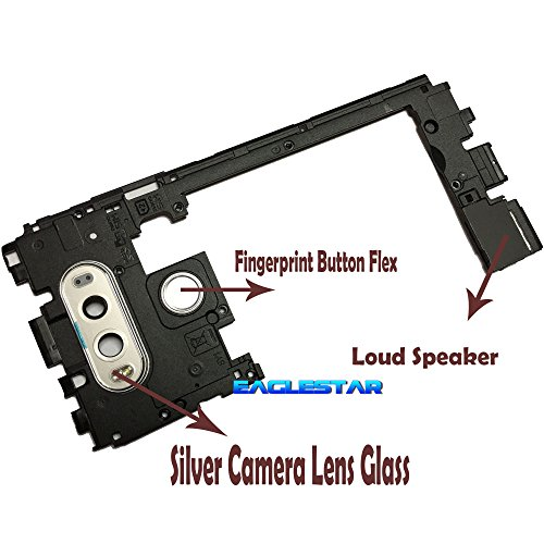 Middle Frame Housing - Eaglestar Replacement Mid Bezel/Middle Chassis Housing Frame for LG V20 H910 H915 H990 LS997 US996 VS995 Replacement Parts W/Buzzer Loudspeaker/Camera Lens Glass/Fingerprint-Silver