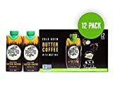 GRASS FED COFFEE | Cold Brew BUTTER COFFEE with MCT Oil, Works with Ketogenic Diet | 12 Pack