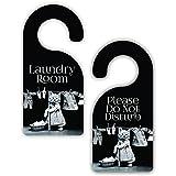 Laundry Room - Vintage Style - Room Door Sign Hanger...
