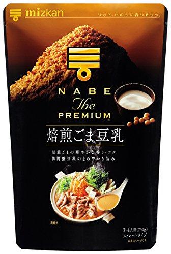 ミツカン NABE THE PREMIUM 焙煎ごま豆乳鍋つゆ 750g×2個の商品画像