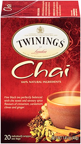 - Twinings of London Chai Tea Bags, 20 Count (Pack of 6)