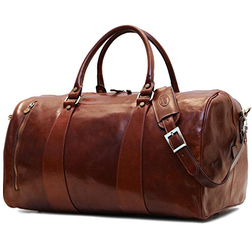 Super Tuscan Leather Duffle Travel Bag Model #1 by Floto