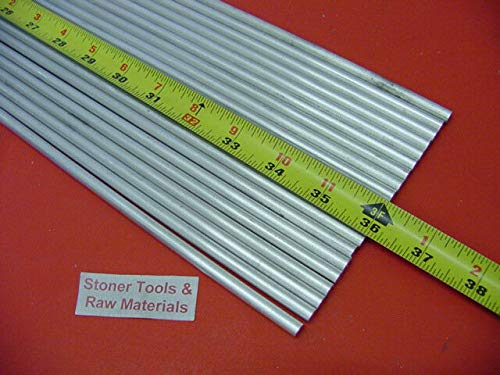 20 Pieces 1/4'' Aluminum 6061 Round Rod 36'' Long T6511 Solid .25'' Lathe Stock 60'