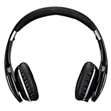 AUSDOM® M07 Bluetooth On-ear Headphones Wireless Headphones with Microphone Bluetooth V4.0+Enhanced Data Rate with APTX Built-in Microphone for Music Streaming and Hands-free Audio and Phone Calling (Black)