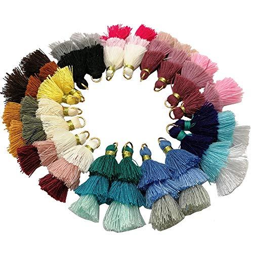 Pamir Tong 20pcs Triple Layer Ombre Tassel, Dangle Earrings Statement Layered Tassel Drop Earrings, Cotton Tassels - Layered Tassel