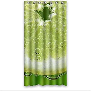 Best Seller Fresh Lemon Pattern Design Lemon Custom 100% Polyester Waterproof Shower Curtain 36 x 72