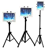 WERSHOW Adjustable Tripod Stand for iPad mini, iPad Air, iPad 1,2,3,4, Samsung Galaxy, Dell, Sony, Microsoft Surface, Google Nexus, Kindle Fire and more 7' to 11' Tablets