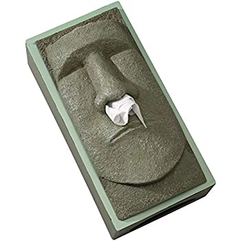 bits and box cover stone face tissue holder great gag gift for