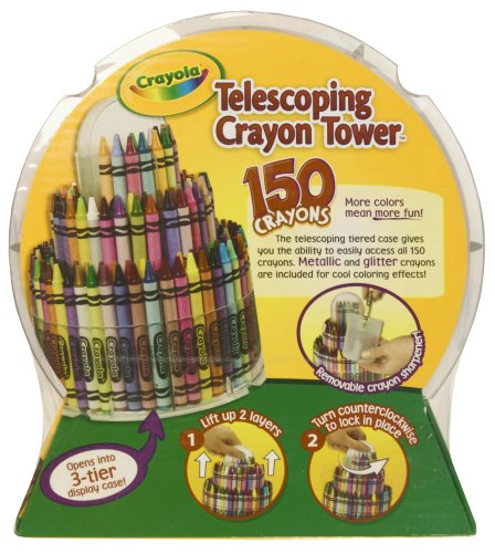 Amazoncom Crayola 150Count Telescoping Crayon Tower Storage