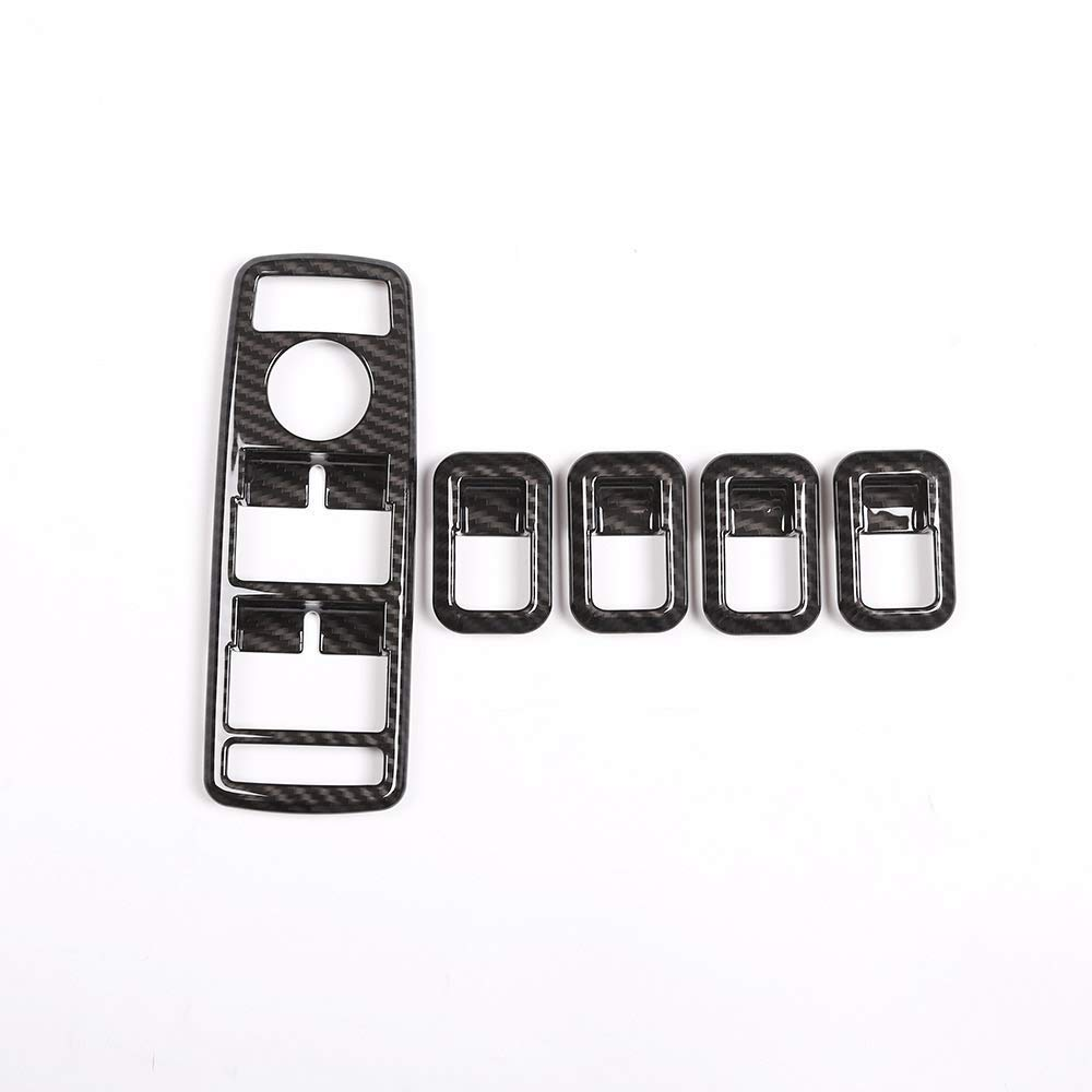 Auto interno alzacristallo Button Frame Trim ABS plastica in fibra di carbonio 2/pz//set per a B C E GLe CLA gLa GLK classe W176/W204/W212/W166/W218