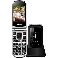 Teléfono Móvil para Personas Mayores Teclas Grandes con Tapa Flip Senior Fácil de Usar Celular para Ancianos con SOS…
