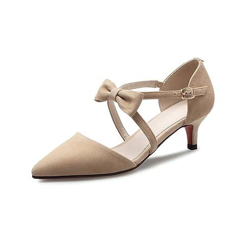 premium selection 2a512 b96f6 Marrone con fiocco a punta tacchi alti moda comoda sandali ...