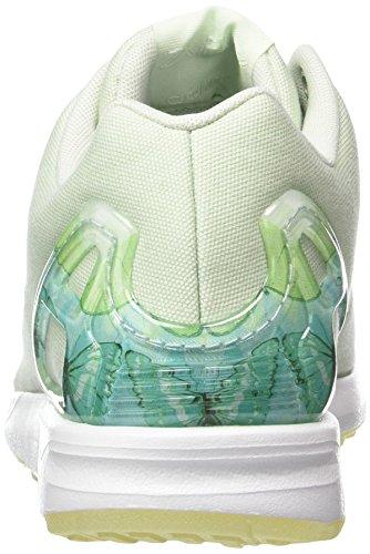 Zapatillas Green Adidas White linen footwear Green linen Mujer Flux Verde Zx Para EzzRq