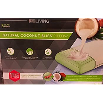 Amazon Com Lux Living Coconut Bliss Pillow Home Amp Kitchen