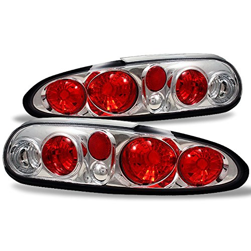 For [Altezza Style] Chevy Camaro Sport Chrome Clear Rear Tail Lights Signal Brake Lamps Left + Right Pair Completed Set