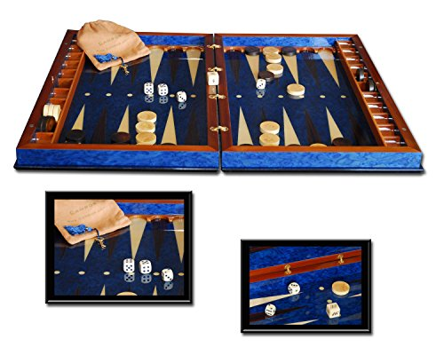 Sorrento I Italian Made Inlaid Wood Backgammon Game Set - Italian Backgammon