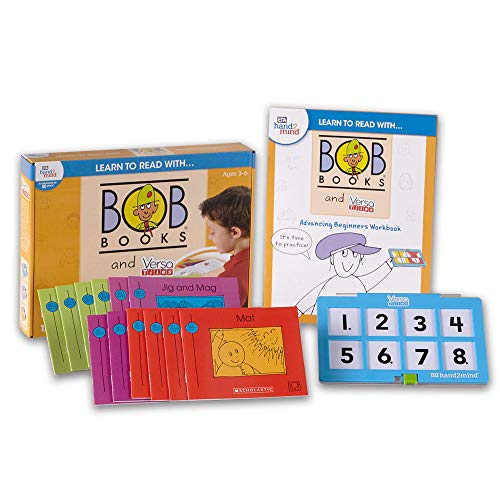 Learn to Read with… Bob Books and Versatiles - Advancing Beginners Set with 12 Bob Books, Answer Case, and Workbook (Ages 3-6) | Level 1 Reading Books for Children -