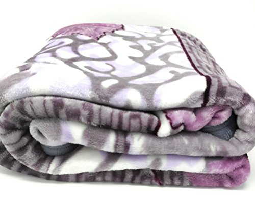 DaDa Bedding Orchid Blossoms Soft Cozy Plush Luxe Flannel Fl