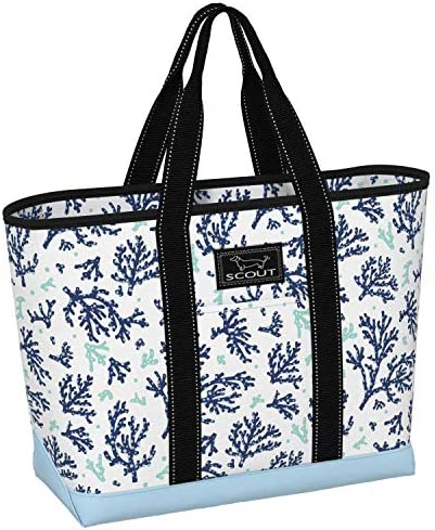 SCOUT La Bumba Tote Bag, Slim Profile Utility Beach Bag or Pool Bag for Women (Multiple Patterns Available)