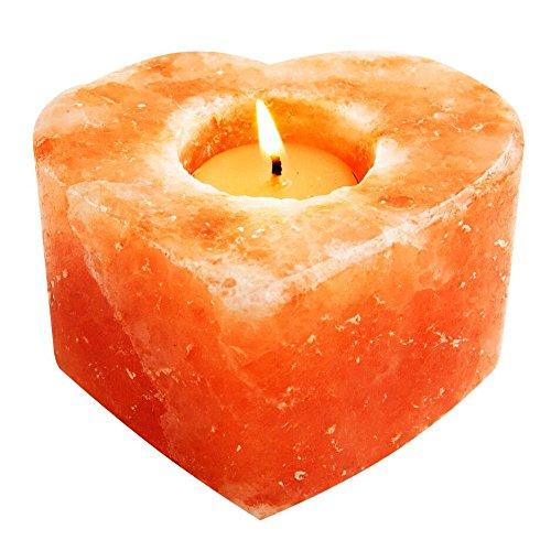 Evolution Salt - Heart Tealight Himalayan Salt Candle Holder 1 Hole
