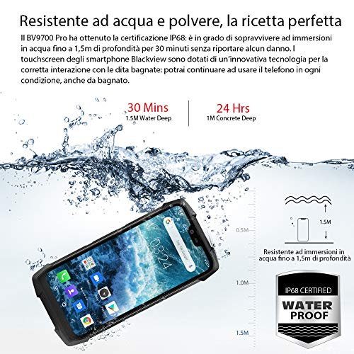 Blackview BV9700 Pro (with night vision camera) Rugged smartphone - 5.84 inch FHD+ IP68 Waterproof Outdoor mobile phone, Helio P70 Octa core 6GB+128GB Android 9.0, air quality and heart rate monitor