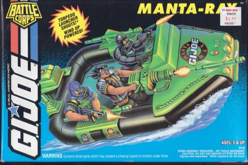 GI JOE 1993 Battle Corps Manta Ray Vintage Vehicle