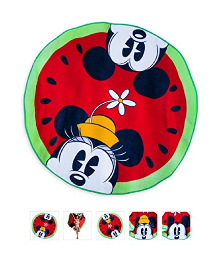 Towel Disney - Mickey and Minnie Mouse Watermelon Beach Summer Fun (Round Mickey Mouse)