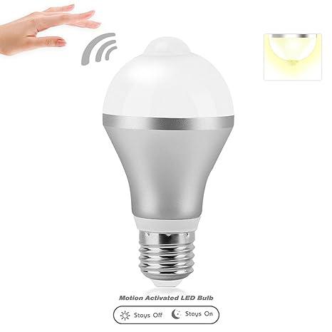 aveylum 9 W LED Sensor Luz Bombillas, E26/E27 Smart Sensor de movimiento PIR