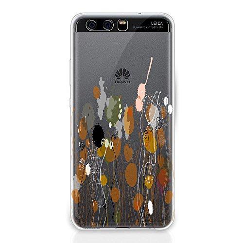 vanki Huawei P10 Plus Hülle Tasten Marmor Schutzhülle Clear Case Cover Bumper Anti-Scratch TPU Silikon Durchsichtig Handyhülle für Huawei P10 Color2 eXCSxI8