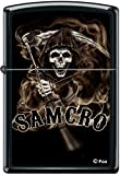 Zippo SOA Sons of Anarchy SAMCRO Reaper Black Matte Windproof Lighter RARE