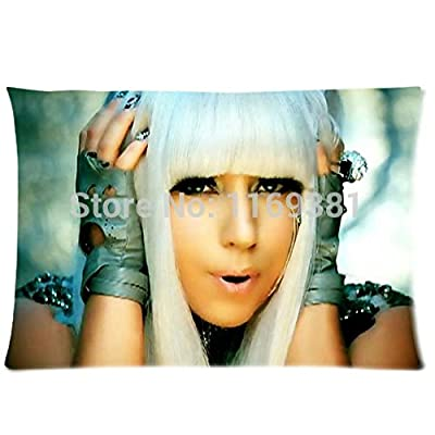 Hot selling pillow case cushion Lady Gaga 20x30 (one side)
