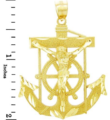 10 ct 471/1000 Religieux Charmes - La Mariner Or Pendentif (2 Inch) Pendentif