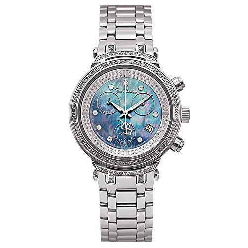 Joe Rodeo JJML7 Master Lady Diamond Watch, White Dial with Silver Band