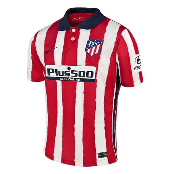 NIKE ATM Y NK BRT Stad JSY SS Hm T-Shirt, Unisex niños, Sport Red/Midnight Navy Full Sponsor, S: Amazon.es: Deportes y aire libre