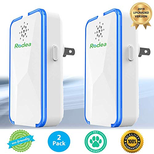 Rodea Advanced Dual Power Ultrasonic Pest Repeller (2 Pack) Electric Plug in Repellent to get rid of Rodent, Bug & Insect: Ant, Fruit Fly, Flea, Mosquito, Spider, Roach, Mouse & Rat