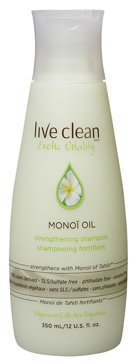 Live Clean Monoi Oil Exotic Vitality Strengthening Shampoo