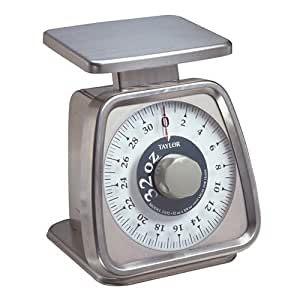 Rotating Kitchen Dial Scale 5 lbs. x 1/2 oz. Capacity 1 Each