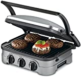 Cuisinart GRID-8NFR 5-in-1 Griddle Contact Counter-top Grill Panini Press...