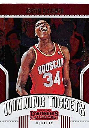 0ba93535a7d7 2018-19 Panini Contenders Winning Tickets Basketball  5 Hakeem Olajuwon  Houston Rockets Official NBA
