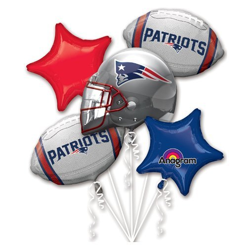 Anagram 31403 New England Patriots Balloon Bouquet -