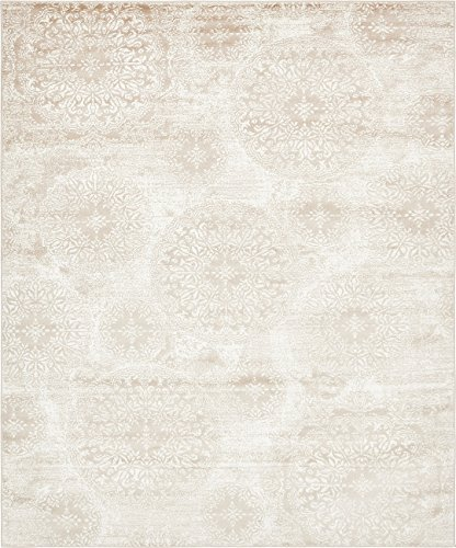 Antique 8x10 Area (Modern Vintage Inspired Overdyed Area Rugs Beige 8' x 10' FT Wembley Rug - modern & Traditional rugs for living room - rugs for dining room & bedroom - Floor Carpet)