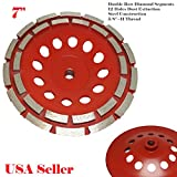 MTP 7'' Double Row 28 Segments 5/8'' -11 Thread Arbor Diamond Grinding CUP Wheel Disc Grinder Granite Concrete Granite Stone For Angle Grinder Turbo Wet or Dry
