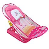 Gurukripa Baby Product™ Presents Mother's Touch Infant Baby Infant Bathing Traning Seat Baby Nursing Compact Delux Baby Bather With Removable Head Support Cushion Infant Bath Chair Todler The Bubbly Baby Bath (Pink)