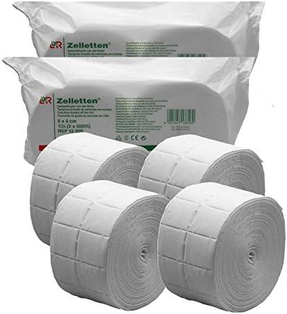 2000 Celulosa de Precortadas de alta calidad ideal para uñas de gel / 4 x Rollo de 500 uds. Celulosas para Uñas Esculpidas: Amazon.es: Belleza